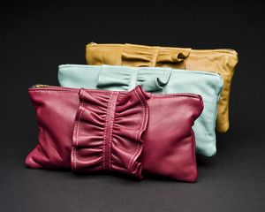 Leather purses from coats
