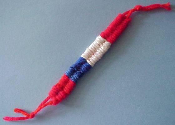 Combination red, white, and blue bracelet