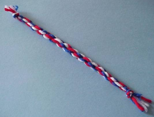 Red, white, and blue rope bracelet
